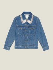 Denim Jacket With Rhinestones : Blazers & Jackets color Blue Vintage - Denim
