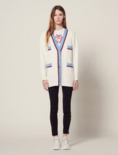 Long Cardigan With Long Sleeves : Sweaters & Cardigans color Ecru