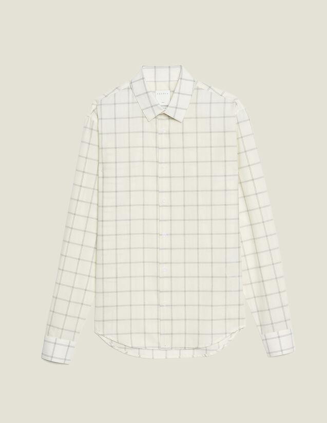 Fine Cotton Shirt : Sélection Last Chance color Ecru