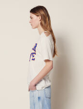 T-Shirt With Cut-Outs On The Shoulders : All Selection color white