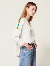 Shirt With Graphic Edging : LastChance-FR-FSelection color Ecru