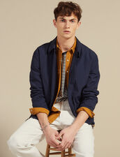 Coach Jacket In Technical Fabric : Blazers & Jackets color Navy Blue
