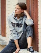 Sweatshirt With Sandro Lettering : Sweatshirts color Grey
