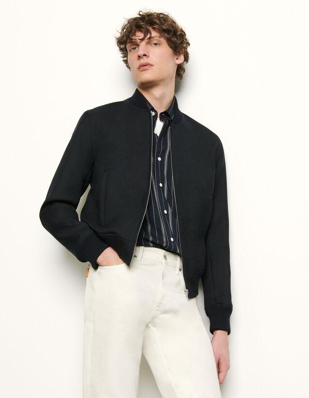 Zipped bomber jacket : Blazers & Jackets color Navy Blue