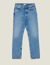 Washed Straight-Cut Jeans : FBlackFriday-FR-FSelection-30 color Blue Vintage - Denim