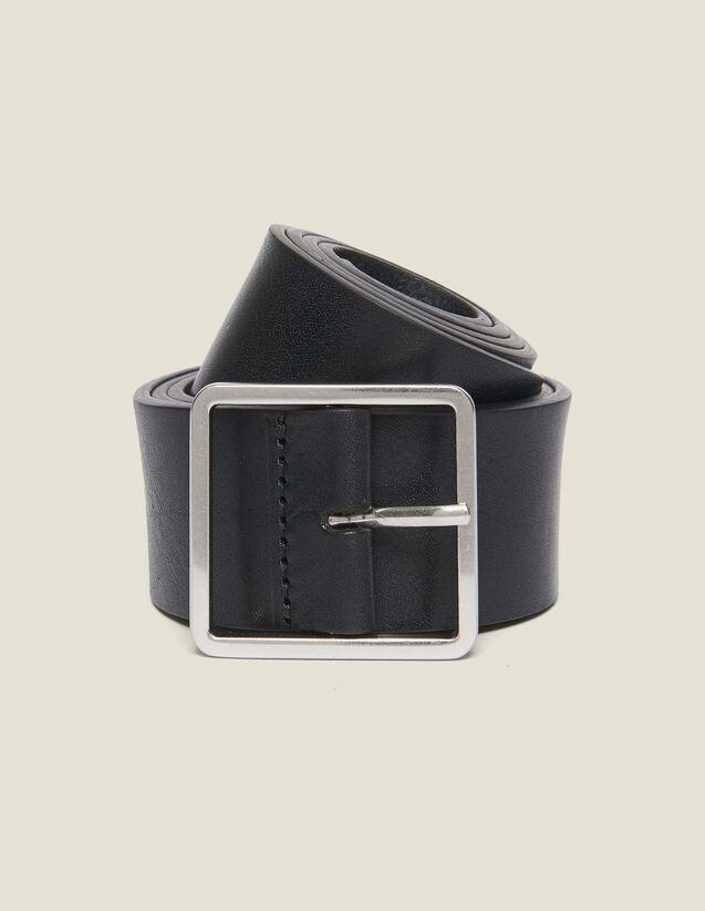 Leather Belt : Belts color Black