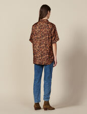 Printed Silk Twill Shirt : Copy of VP-FR-FSelection-Tops&Chemises color Brown