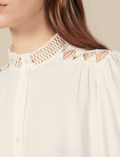 Floaty crêpe blouse : Copy of VP-FR-FSelection-Tops&Chemises color Ecru