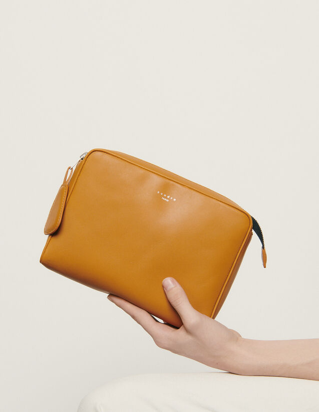 Small supple leather pouch : All Leather Goods color Ochre