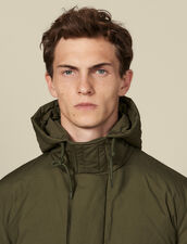 Cotton goose down padded jacket : LastChance-IT-H50 color Olive Green