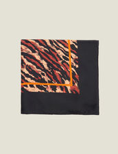 Printed silk scarf : Copy of VP-FR-FSelection-AutresAccessoires color Black