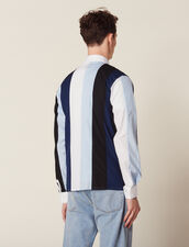 Shirt With Multicoloured Stripes : Shirts color Blue