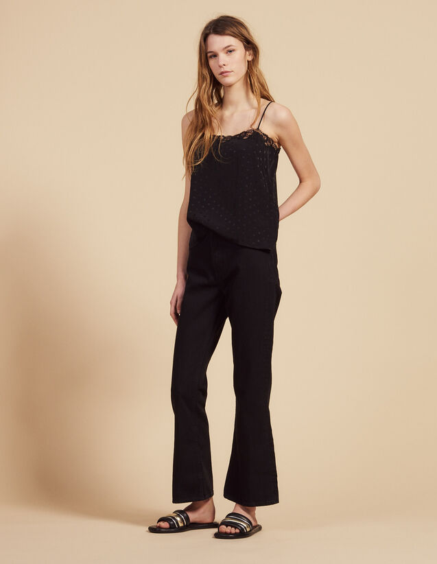 Flared Jeans : All Selection color Black