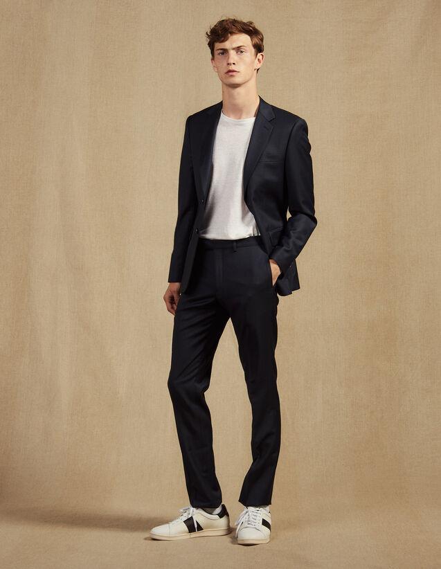 Wool Suit Trousers : Suits & Tuxedos color Pétrol Blue