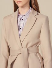 Long Wool Jacket With Belt : Copy of VP-FR-FSelection-Blousons&Manteaux color Beige