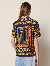 Short-Sleeved Printed Shirt : All Selection color Navy Blue