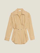 Long-Sleeved Striped Shirt : LastChance-FR-FSelection color Beige