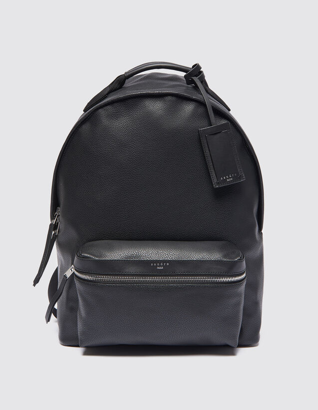 Coated Fabric Backpack : All Leather Goods color Black