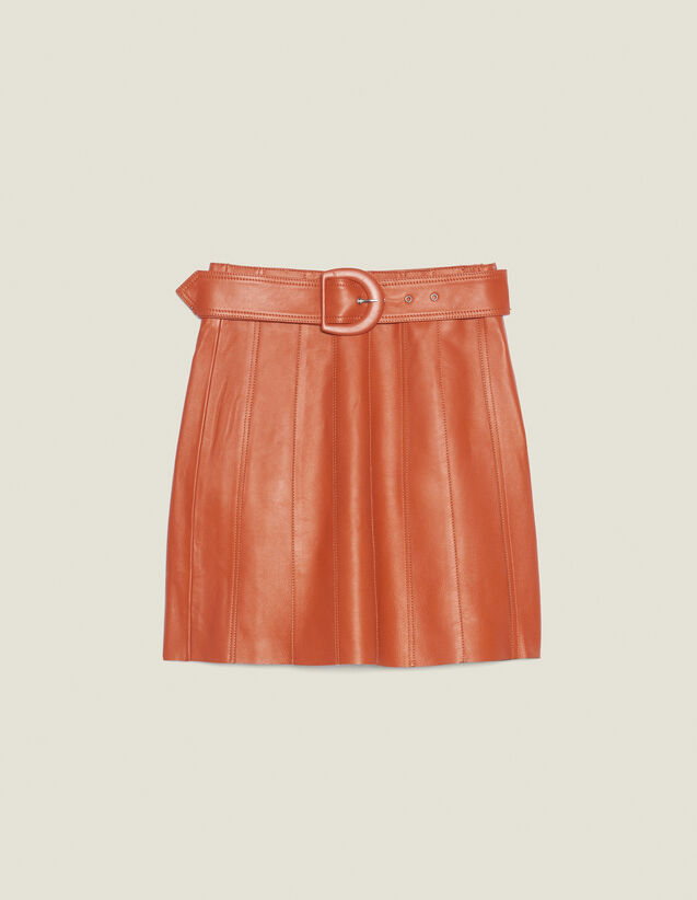 Leather Skirt With Belt : All Selection color Caramel