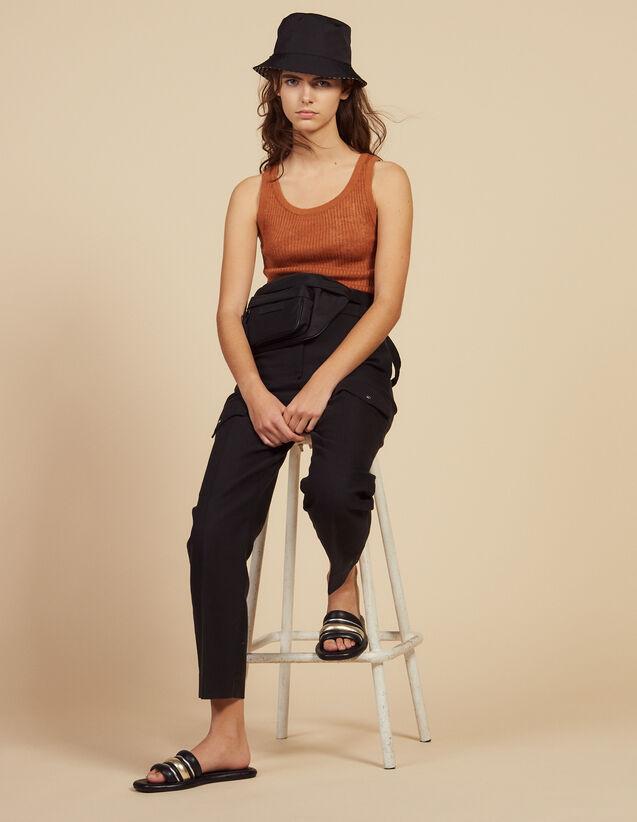 Fine Ribbed Knit Top : LastChance-FR-FSelection color Terracotta