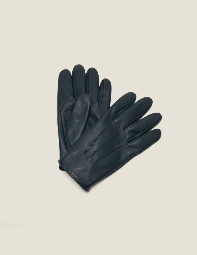 Leather gloves : Gloves & Hats color Dark green