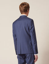 Wool Suit Jacket : LastChance-FR-H50 color Bluish Grey