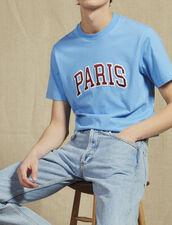 T-Shirt With Patch Lettering : Sélection Last Chance color Sky Blue