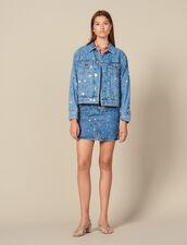 Denim Jacket Trimmed With Studs : Copy of VP-FR-FSelection-Blousons&Manteaux color Blue Jean