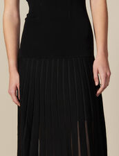 Long, Figure-Hugging Knit Dress : LastChance-ES-F50 color Black