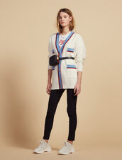 Long Cardigan With Long Sleeves : null color Ecru