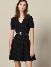 Knit Dress Embellished With Small Beads : Copy of VP-FR-FSelection-Robes color Black