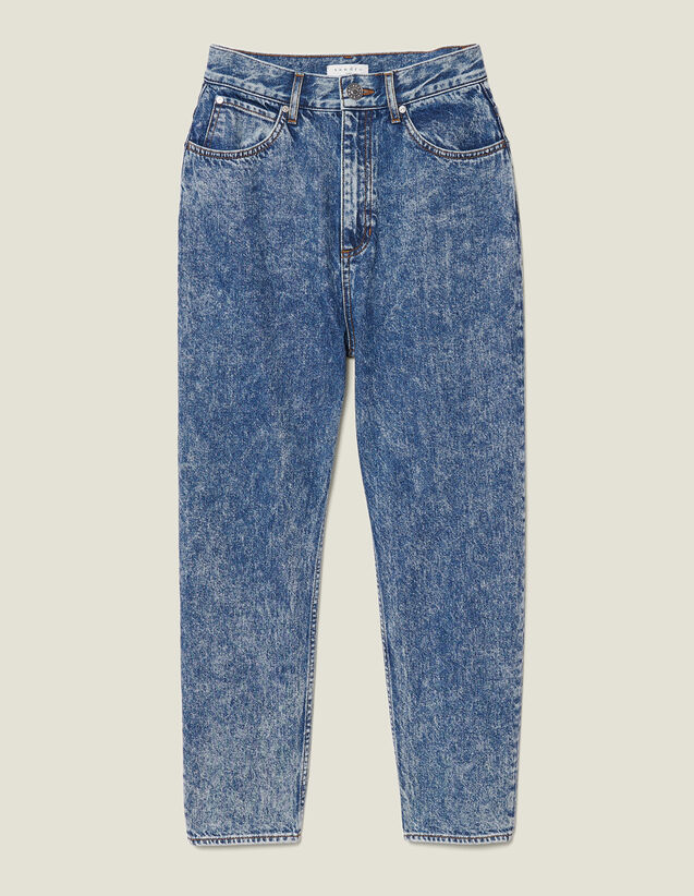 Snow wash jeans : LastChance-ES-F40 color Blue Jean