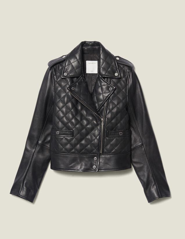 Quilted Leather Jacket : LastChance-ES-F50 color Black