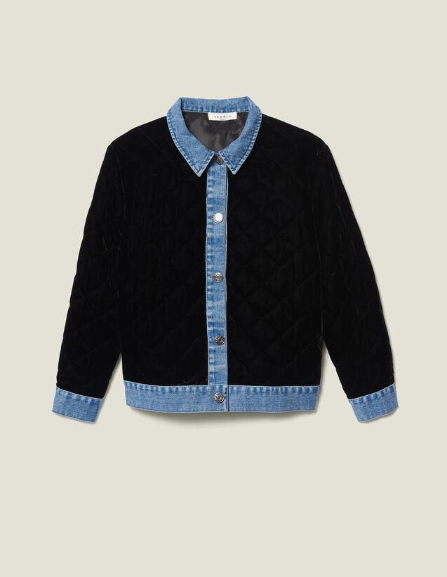 Quilted Velvet Jacket : LastChance-ES-F50 color Black