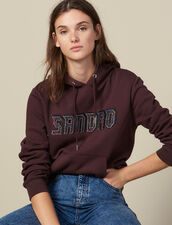 Sweatshirt with Sandro lettering : FBlackFriday-FR-FSelection-30 color Grey