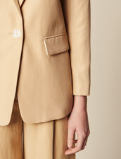 Tailored Jacket With Button Fastening : Blazers & Jackets color Beige