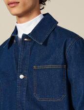 Denim Workwear Jacket : Winter Collection color Blue Vintage - Denim