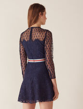 Short Lace Dress : All Selection color Navy Blue