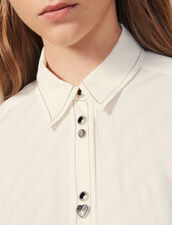 Shirt Adorned With Jewelled Buttons : LastChance-ES-F50 color Ecru