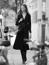 Long draped dress : FBlackFriday-FR-FSelection-50 color Black