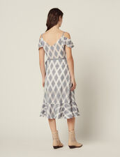 Lace Dress With Ruffles On The Shoulders : Dresses color Multi-Color
