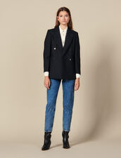 Oversized striped blazer : Copy of VP-FR-FSelection-Blousons&Manteaux color Black