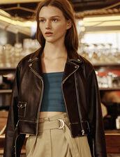 Short Biker Jacket : LastChance-FR-FSelection color Black