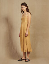 Long Dress In Pleated Lurex Knit : LastChance-FR-FSelection color Gold