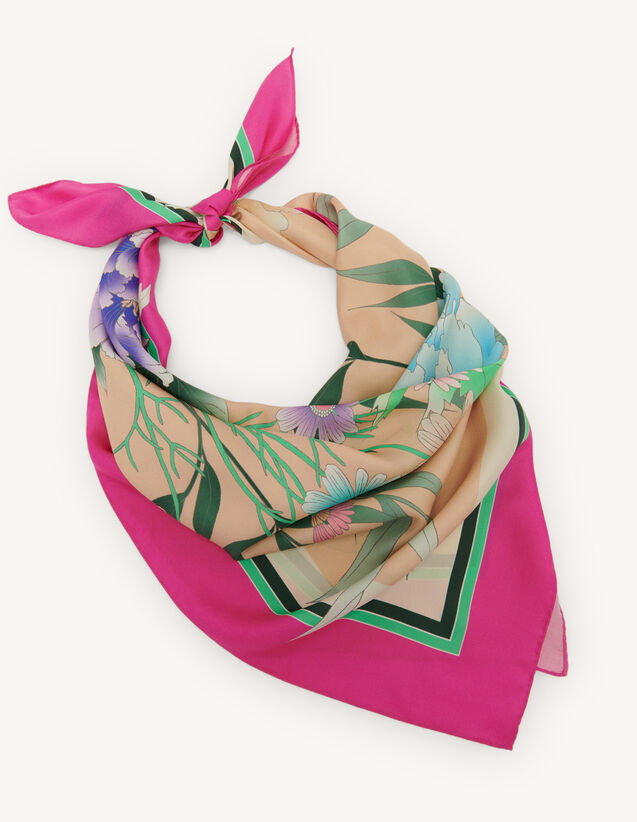 Silk scarf : Scarves color Fuchsia
