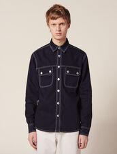 Denim Overshirt : Shirts color Midnight Blue Denim
