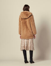 Faux Fur Coat : Coats color Camel