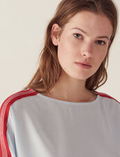 Top With Graphic Braid Trim : null color Sky Blue