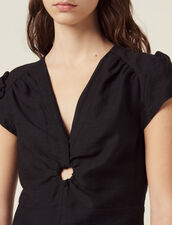 Short Dress With Low Neckline : All Selection color Black