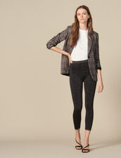 Lurex knit leggings : Pants color BURGUNDY
